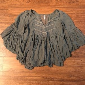 Army Green Free People Top
